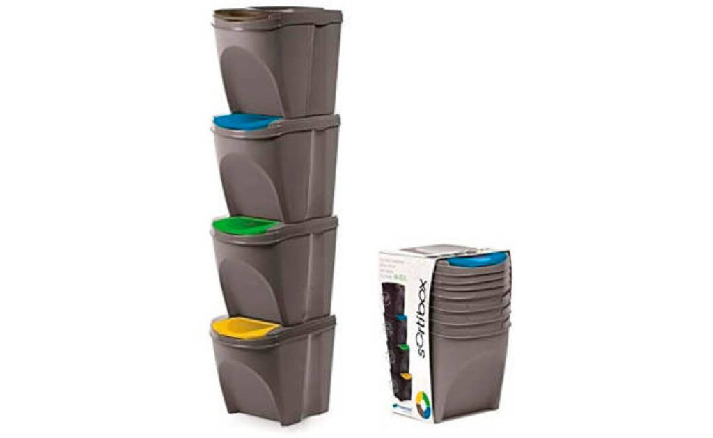 cubos de basura de reciclaje para espacios reducidos