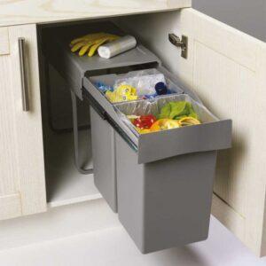 cubos de basura de recicleje para espacios reducidos